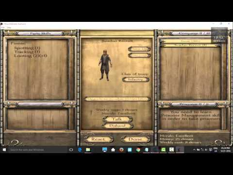 How to increase number of troops in mount and blade warband