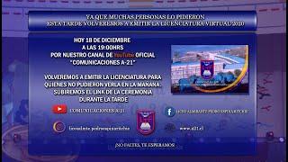 LICENCIATURA VIRTUAL 2020 - Liceo Bicentenario Almte. Pedro Espina Ritchie