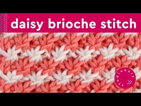 DAISY FLOWER Knit Stitch Pattern