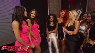 """The Bella Twins invite Eva Marie and Jo-Jo to a """"Total Divas"""" cast meeting with Natalya and The Funk"""