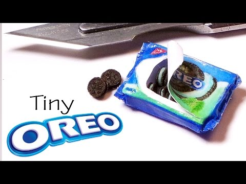 Tiny Oreo Cookies - Paper & Polymer Clay Tutorial