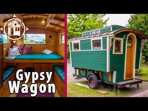 Handmade Gypsy Wagon made with Gorgeous Woodwork and Carpentry Skills
