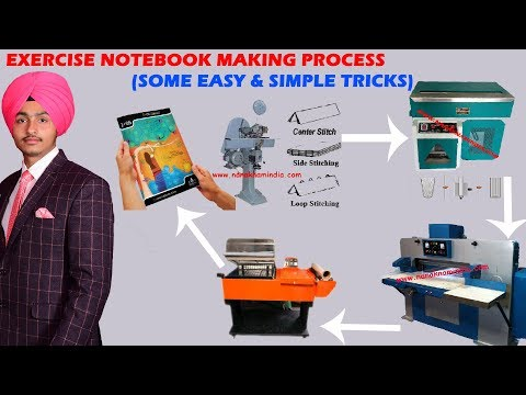 EXERCISE NOTEBOOK MAKING PROCESS ( SOME SIMPLE & EASY TRICKS )