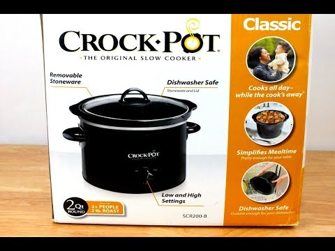 2 qt Crock Pot Slow Cooker Unboxing