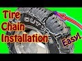 DIY How to Install Tire Chains for Winter Weather Driving Quick Grip Snow Chains