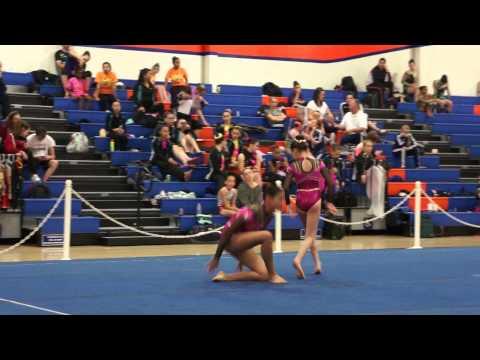 Level 9 Women's Pair 16 Under, Balance, EDGE, Adele & Sydney  2013 California State Acrobatic Champi