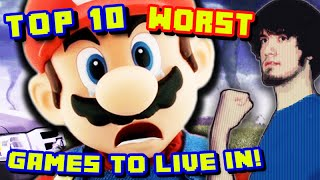 Top 10 WORST Video Game Worlds To Live In! - PBG