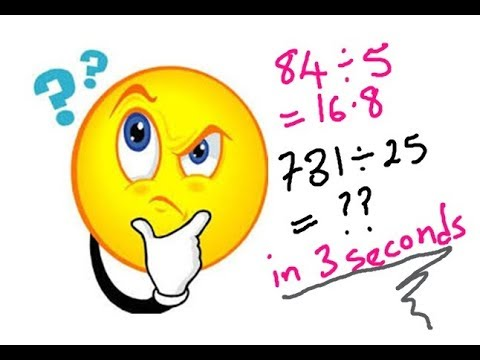 Maths Trick For Fast Division without Calculator