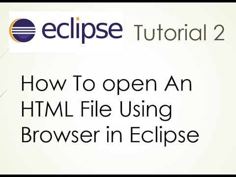 how to open html file using a browser in eclipse