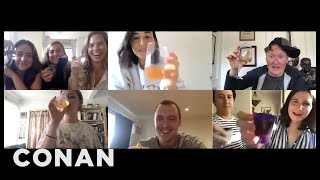 Conan Crashes A Millennial Staffer's Zoom Happy Hour - CONAN on TBS