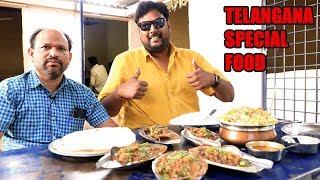 Amazing Telangana Food   Boti Paya Bheja Dhaba Style   Indian Food