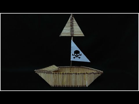 Matchstick Boat - Diy Craft from waste material