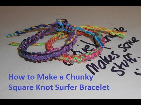 DIY Chunky Square Knot Hemp Bracelet