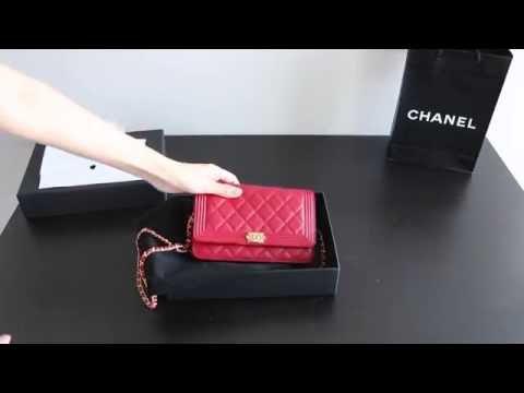a55745fc039b Unboxing Chanel Boy WOC (Wallet On Chain) 2016 | Heaxz