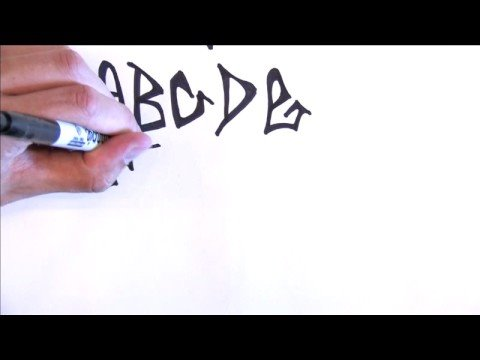 Illustration & Drawing Tips : How to Draw Graffiti Letters