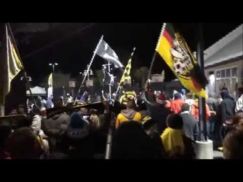 Charleston vs. NYCFC: Battery fans march to the stadium (2.28.15)