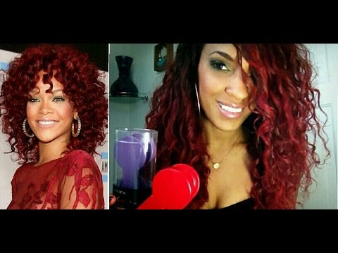 Rihanna Red Hair Without Bleaching | Hair Chalk Tutorial  | NiaKnowsHair