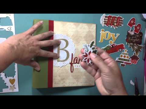 Scrapbooking Process Video: Christmas Family Recipe Album Cover