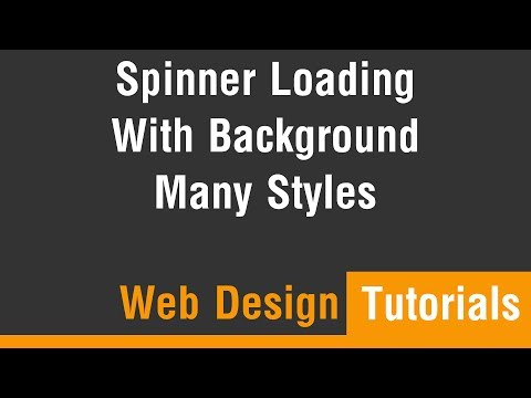 Arabic Tutorials - Create Spinner Loading With Background and Many Styles