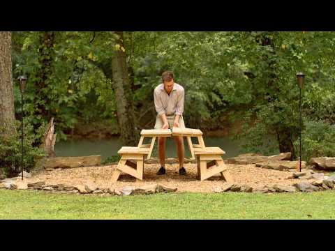 YellaWood® Convertible Picnic Table - Hack Video
