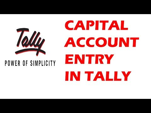 Capital Account Entry In Tally
