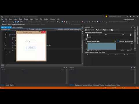 Make a GUI Simple Count Application with Csharp in Visual Studio Community 2015