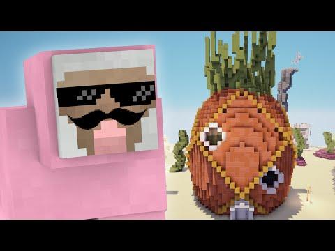 PINK SHEEP MEETS SPONGEBOB SQUAREPANTS!!   Minecraft