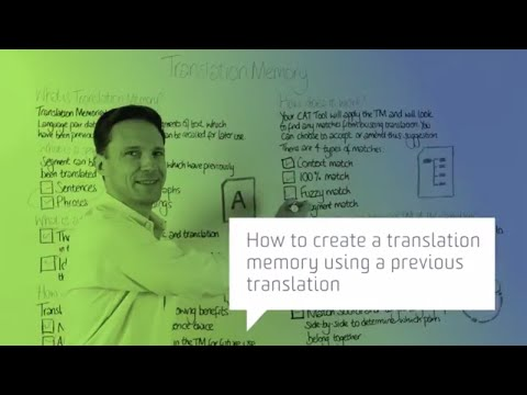 How to create a translation memory using a previous translation