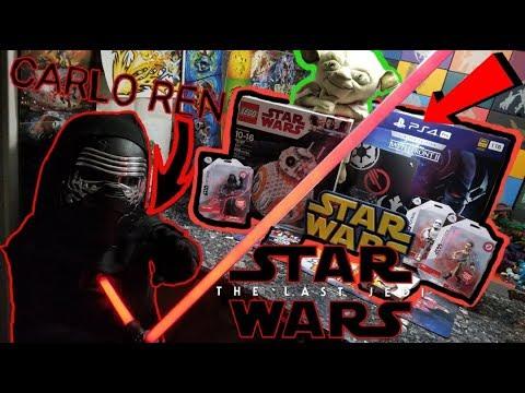 BIGGEST STAR WARS HAUL OPENING! STAR WARS THE LAST JEDI! LIGHTSABER BATTLE WITH DARKSIDE CARLO REN!