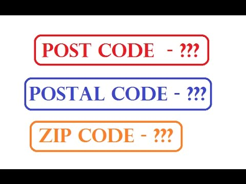 what is post/postal and zip code