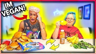 Download I swapped DIETS with my Girlfriend for 24 Hours! *Bad Idea* Video