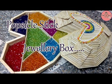 How to make Heart shape Jewellery Box with Popsicle Stick | Ice Cream Stick Craft | Diy | Art