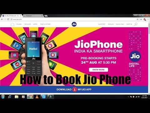 How to Book Jio Phone 500Rs. (Pre Booking on 24/8/2017 05:30 P.M)