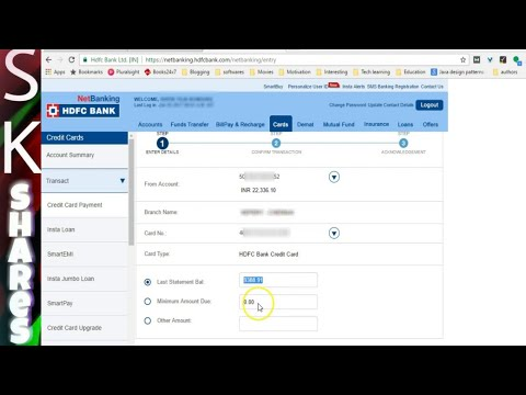 how to complete HDFC Credit card Payment online - 2017