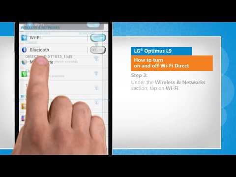 How to turn on and off Wi-Fi Direct in LG® Optimus L9