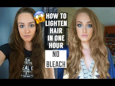 HOW TO LIGHTEN HAIR DRASTICALLY WITH NO BLEACH || CHEAP AND FAST