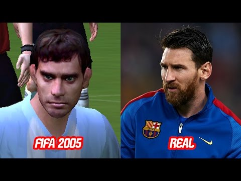 Lionel Messi Face Change In FIFA 2004 to FIFA 17 vs Real Face (Over The Years)
