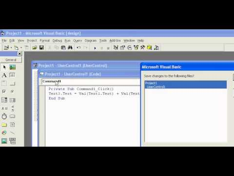 how to create ActiveX control in vb 6