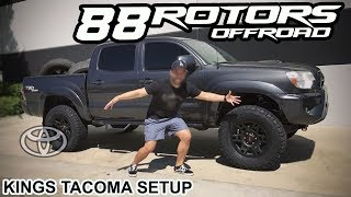 2018 Toyota Tacoma Kings Lift & Volk TE37X in Bronze & BMC