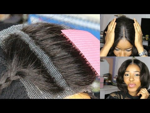 DIY How To Make Your Own Lace Closure Start To Finish, Fast And Easy / How To Make A Wig