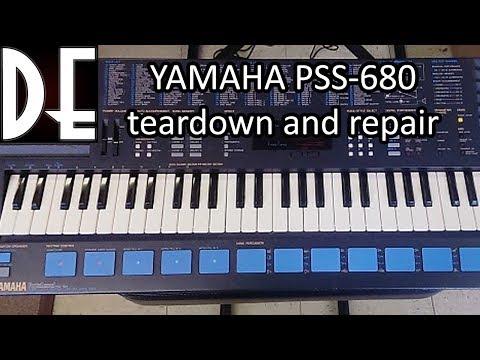 Yamaha PSS-680 teardown and repair
