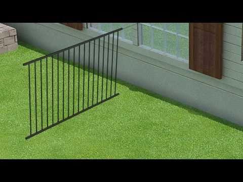 WamBam Fence's No-Dig Aluminum Fence Installation