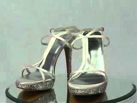 Stuart Weitzman White Satin Crystal Wedding Shoes