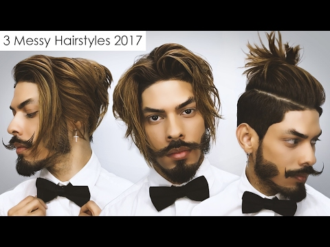 3 Messy Hairstyles 2017