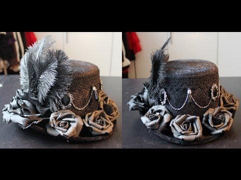 DIY: Decorating a (top) hat for lolita / kodona / ouji / aristocrat (tutorial)