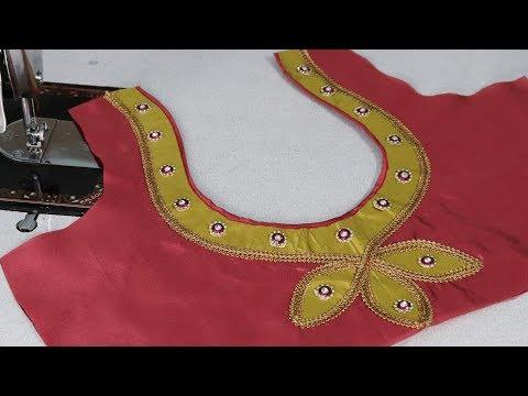 Paithani Saree  blouse design cutting and stitching