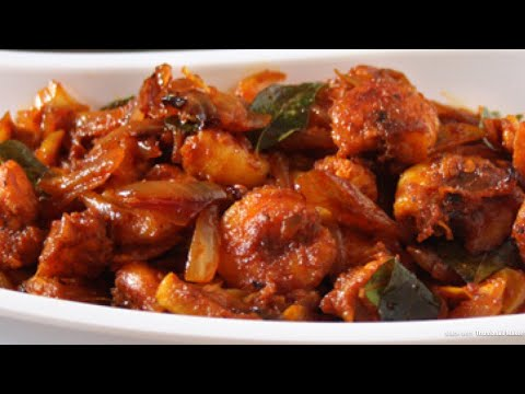 Chemmeen roast Kerala style | Prawns roast Kerala style
