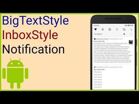 Notifications Tutorial Part 3 - BIG TEXT STYLE + INBOX STYLE - Android Studio Tutorial