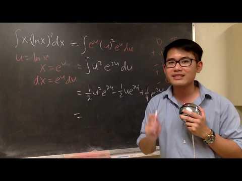 integral of x*(lnx)^2, FAST!
