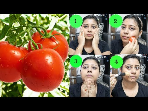 Skin Whitening Tomato Facial at Home || Best Home Facial for Summer